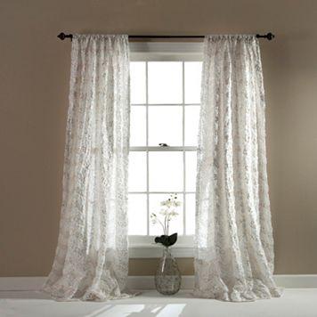 Lush Decor Giselle Sheer Window Curtain - 54'' x 84''