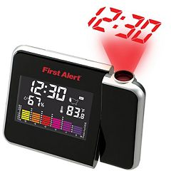 First Alert Indoor Temperature Station with Clock