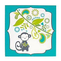 Happy Chic by Jonathan Adler Safari Monkey Canvas Wall Art