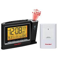 First Alert Radio-Controlled Weather Station with Projection Clock Radio