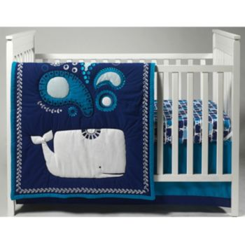 Happy Chic By Jonathan Adler Party Whale 4 Pc Crib Bedding Set