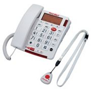First Alert Oversized Button Phone with Emergency Key & Remote