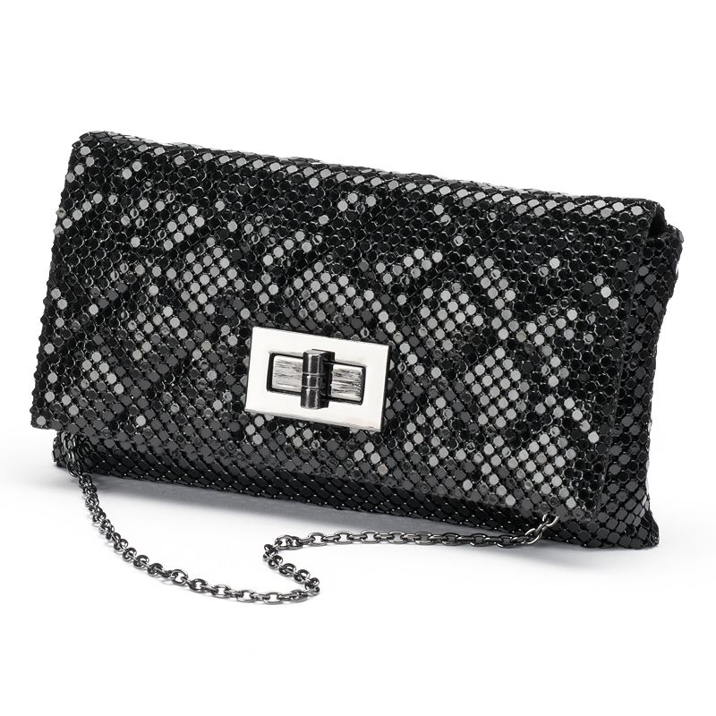 Gunne Sax by Jessica McClintock Quilted Metal Mesh Evening Clutch