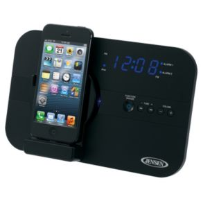 Jensen Alarm Clock Radio with Lightning Charging Dock
