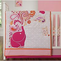 Deals on Happy Chic by Jonathan Adler Party Elephant 4-pc. Crib Bedding Set