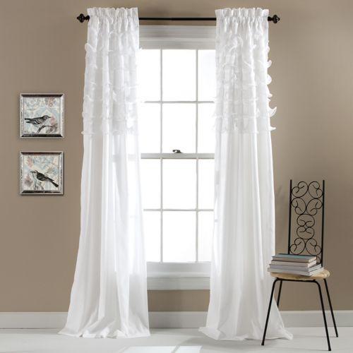 Lush Decor Avery Sheer Curtain Pair - 54'' x 84''