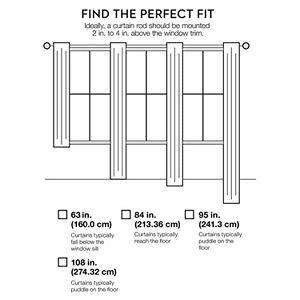 Lush Decor 1-Panel Nerina Sheer Window Curtain - 54'' x 84''