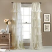 Lush Decor 1-Panel Nerina Sheer Window Curtain - 54'' x 84''