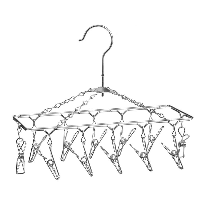 Honey-Can-Do Hanging Lingerie Drying Rack, Adult Unisex, Size: DRY RACK, Silver