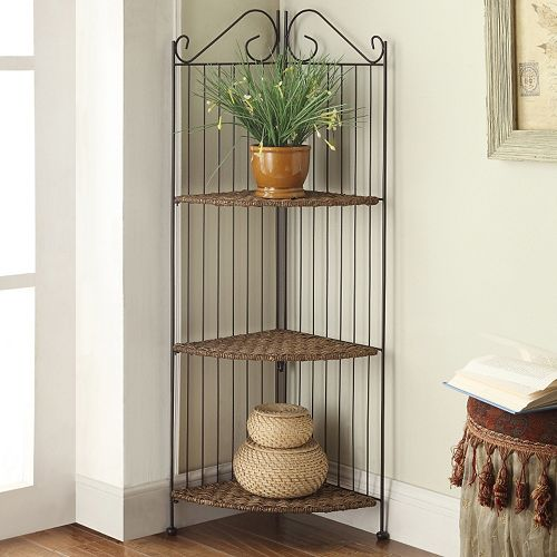 4D Concepts Farmington 3-Tier Corner Folding Bookcase
