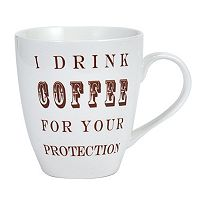 Pfaltzgraff ''I Drink Coffee For Your Protection'' 20-oz. Mug
