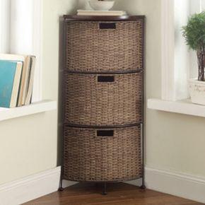 4D Concepts Farmington 3-Tier Corner Storage Tower