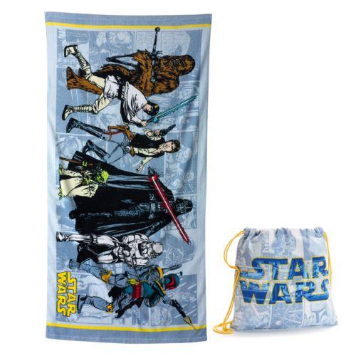 Star Wars Group 2-pc. Beach Towel & Drawstring Bag Set