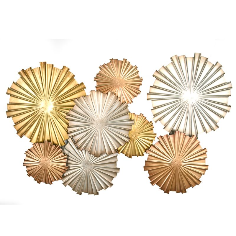 Stratton Home Decor Metallic Circles Wall Decor, Multicolor