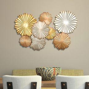 Stratton Home Decor Metallic Circles Wall Decor