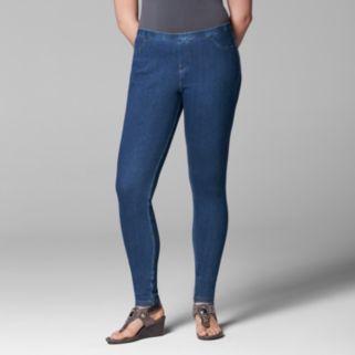 Plus Size Simply Vera Vera Wang Rivet Denim Leggings