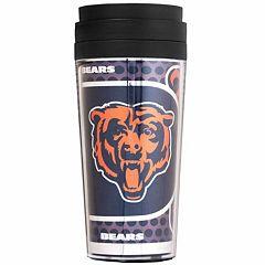 Chicago Bears Acrylic Tumbler With Metallic Wrap