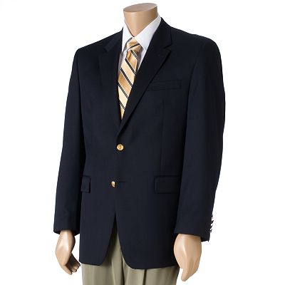 Chaps Navy Two-Button Blazer