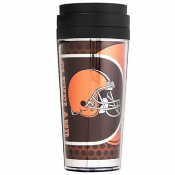 Cleveland Browns Acrylic Tumbler With Metallic Wrap