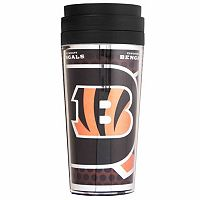 Cincinnati Bengals Acrylic Tumbler With Metallic Wrap