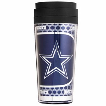 Dallas Cowboys Acrylic Tumbler With Metallic Wrap