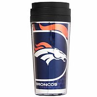Denver Broncos Acrylic Tumbler With Metallic Wrap