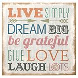 Stratton Home Decor ''Live Simply'' Wall Art