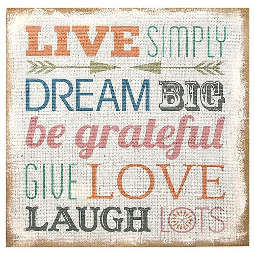 Stratton home decor 39 39 live simply 39 39 wall art for Live simply wall art