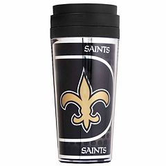 New Orleans Saints Acrylic Tumbler With Metallic Wrap