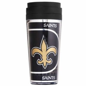 New Orleans Saints Acrylic Tumbler With Metallic Wrap