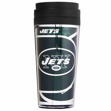 New York Jets Acrylic Tumbler With Metallic Wrap
