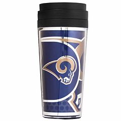 Los Angeles Rams Acrylic Tumbler With Metallic Wrap