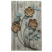 Stratton Home Decor Rustic Floral Panel I Wall Decor