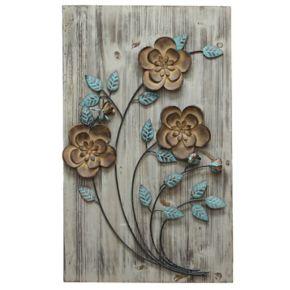 Stratton Home Decor Rustic Floral Panel I Wall Decor