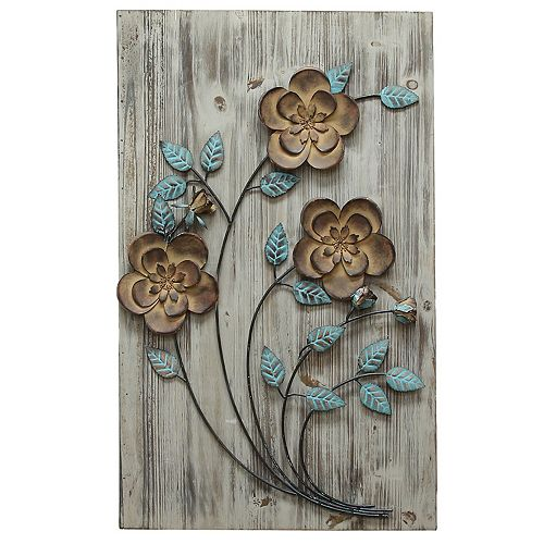 Kohls Home Decor Wall Art ~ Stratton home decor rustic floral panel i wall