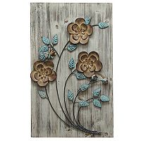Stratton Home Decor Rustic Floral Panel II Wall Decor