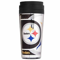 Pittsburgh Steelers Acrylic Tumbler With Metallic Wrap