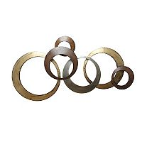 Stratton Home Decor Metallic Rings Wall Decor