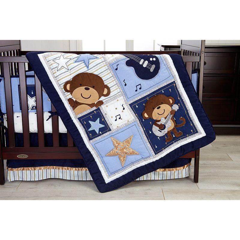 Carter's Monkey 4-pc. Crib Bedding Set, Blue