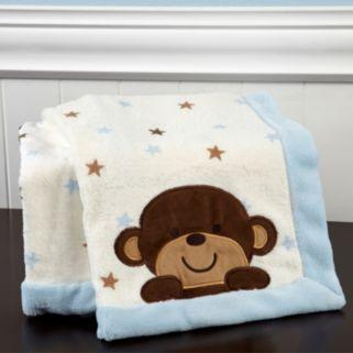 Carter's Monkey Fleece Blanket