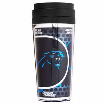 Carolina Panthers Acrylic Tumbler With Metallic Wrap