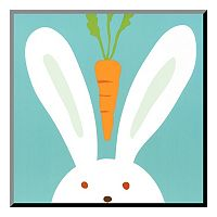 Art.com ''Peek-a-Boo I, Rabbit'' Wood Wall Art