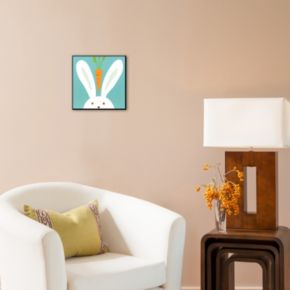 Art.com ''Peek-a-Boo I, Rabbit'' Wood Wall Art