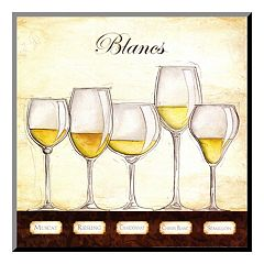 Art.com ''Les Vins Blancs'' Wood Wall Art