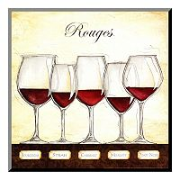 Art.com ''Les Vins Rouges'' Wood Wall Art