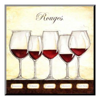 Art.com ''Les Vins Rouges'' Wood Wall Art