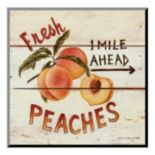 Art.com ''Fresh Peaches'' Wood Wall Art
