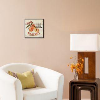 Art.com ''Fresh Peaches'' Wood Wall Art