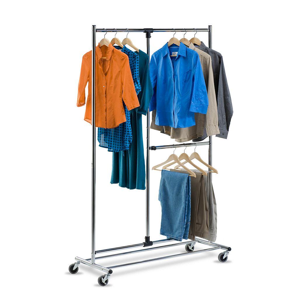 Honey-Can-Do 2-Tier Rolling Garment Rack