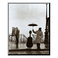 Art.com ''Musician in the Rain'' Wood Wall Art by Robert Doisneau